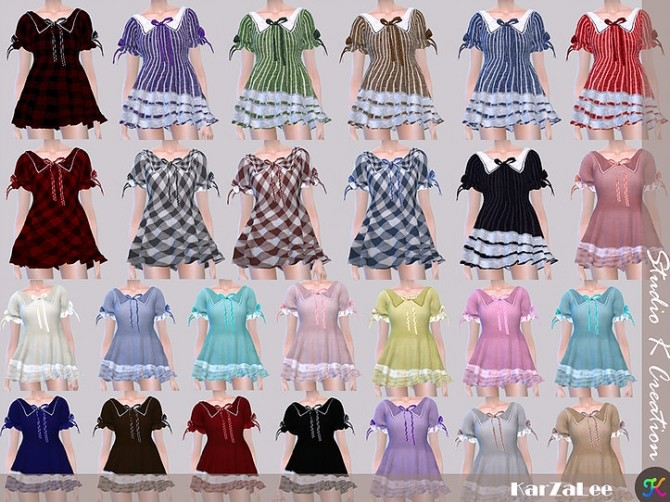 Type J top dress at Studio K Creation image 16115 670x502 Sims 4 Updates