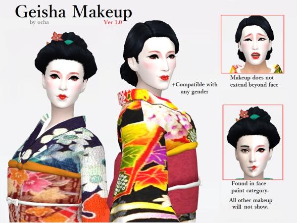 Sims 4 Geisha Makeup Ver 1.0 by ochanet at TSR