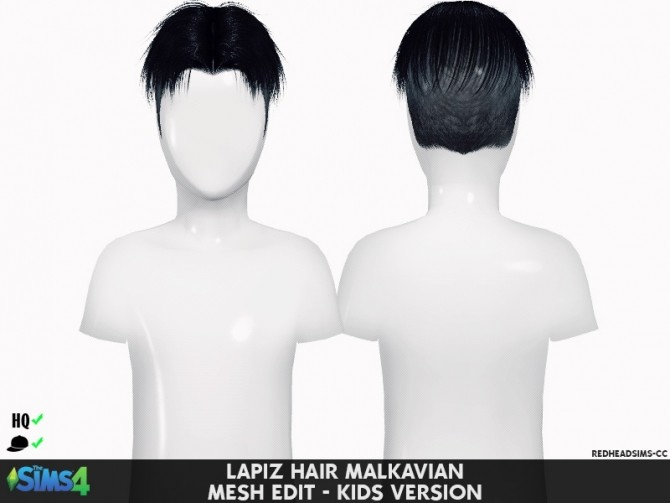 LAPIZ HAIR MALKAVIAN ALL AGES at REDHEADSIMS – Coupure Electrique image 1624 670x503 Sims 4 Updates