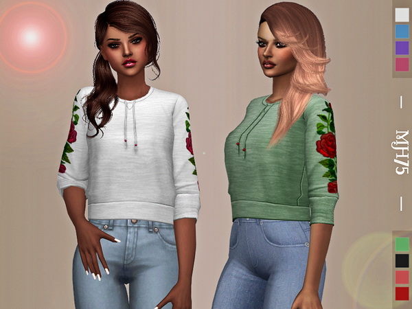 Sims 4 Skylar Sweater by Margeh 75 at TSR