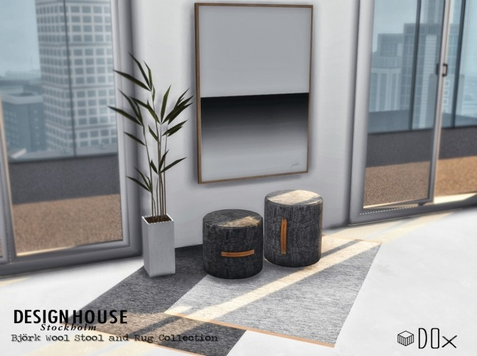 Wool Rug and Stool Collection at DOX image 1632 670x500 Sims 4 Updates