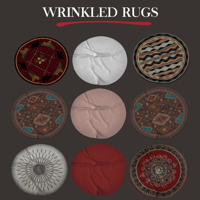 Sims 4 Wrinked Rugs at Leo Sims