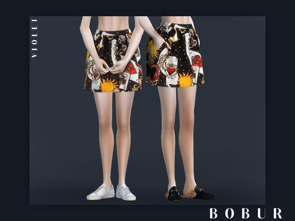 Sims 4 Violet skirt by Bobur3 at TSR