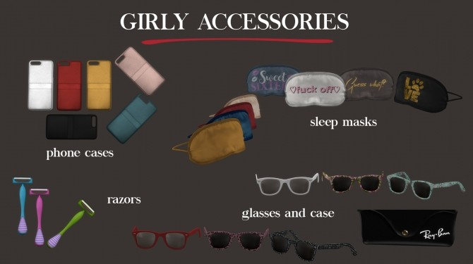 Sims 4 Girly Accessories at Leo Sims