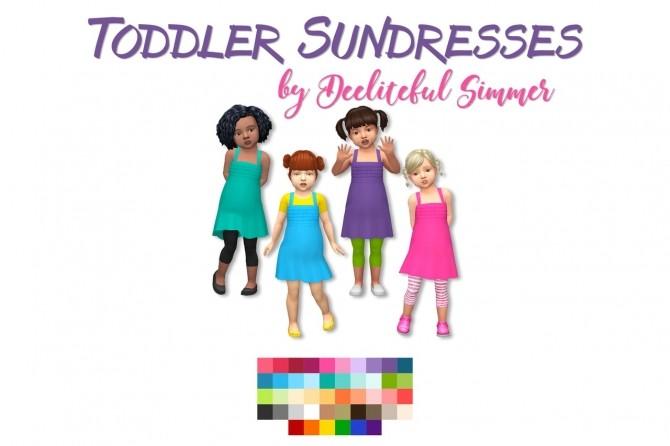 Sims 4 Basic sundresses for toddlers at Deeliteful Simmer