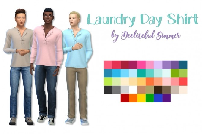 Laundry Day shirt at Deeliteful Simmer image 1665 670x446 Sims 4 Updates