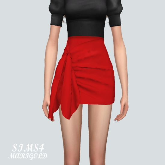 Tied Wrap Skirt at Marigold image 167 Sims 4 Updates