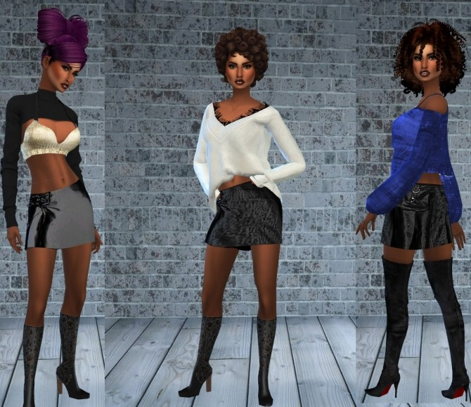 Birthday Gift Leather Pants + skirt at Teenageeaglerunner image 1683 670x579 Sims 4 Updates