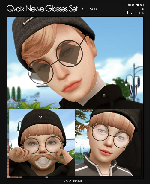 All Age Nevve Glasses Set at qvoix – escaping reality image 1685 Sims 4 Updates