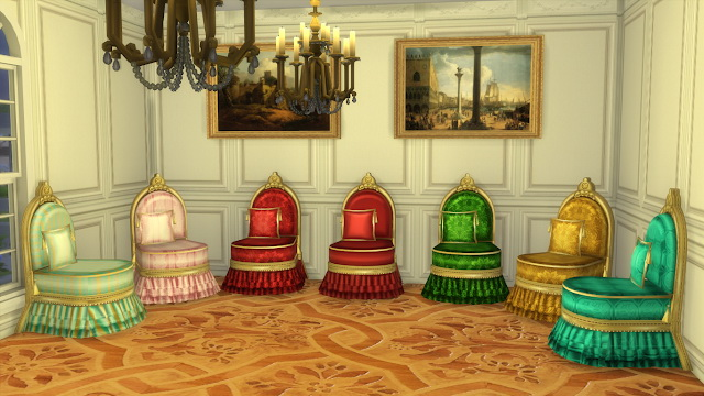 Antique Slipper Chair at Regal Sims image 1688 Sims 4 Updates
