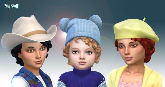 Sims 4 Med Curl Conversion at My Stuff