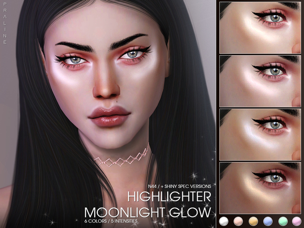 Moonlight Glow Highlighter N44 by Pralinesims at TSR image 1716 Sims 4 Updates