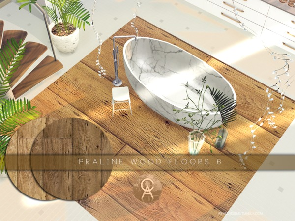 Sims 4 Wood Floors 6 by Pralinesims at TSR