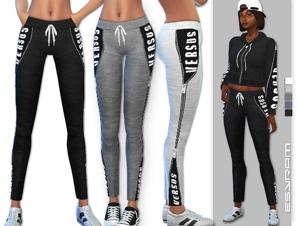 Sims 4 Pants with hidden Logo by EsyraM at TSR