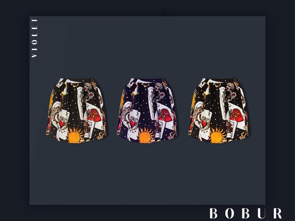 Violet skirt by Bobur3 at TSR image 1739 Sims 4 Updates