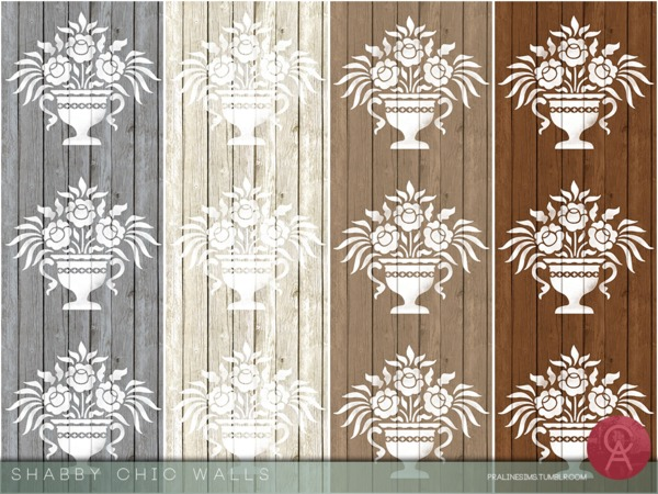Shabby Chic Walls by Pralinesims at TSR image 1740 Sims 4 Updates