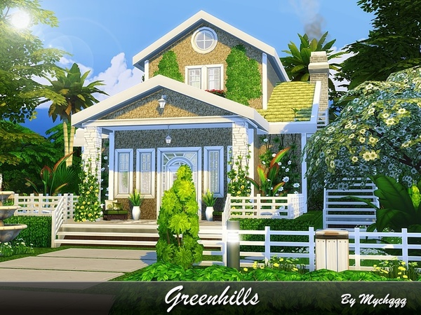 Sims 4 Greenhills house by MychQQQ at TSR