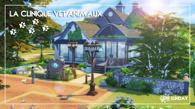 Sims 4 Clinic Vet Animals by SundaySims at Sims Artists