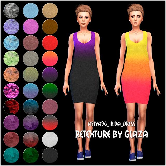 Sims 4 Аstya96 Irida dress retexture at All by Glaza