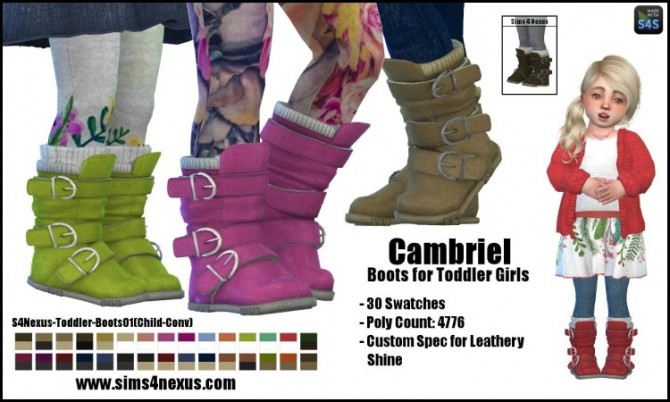 Camrbiel Boots Toddlers by SamanthaGump at Sims 4 Nexus image 1784 670x402 Sims 4 Updates