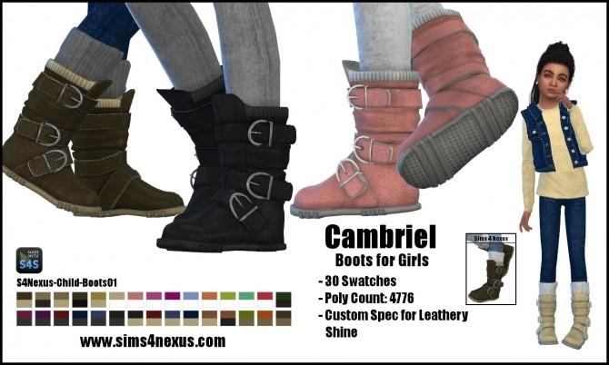 Sims 4 Camrbiel Boots Toddlers by SamanthaGump at Sims 4 Nexus