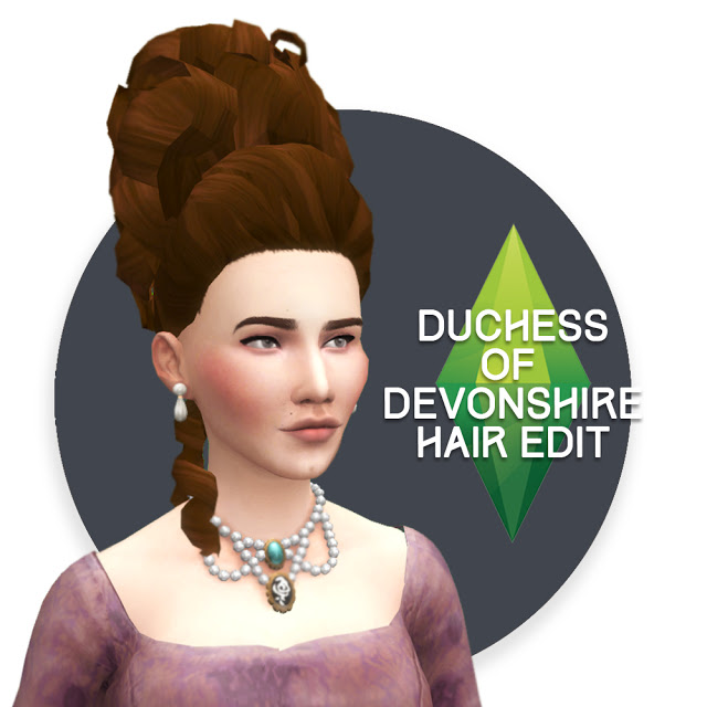 Duchess of Devonshire Hair conversion & edit at Historical Sims Life image 1801 Sims 4 Updates