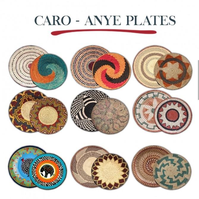 Sims 4 Caro Anye Plates at Leo Sims