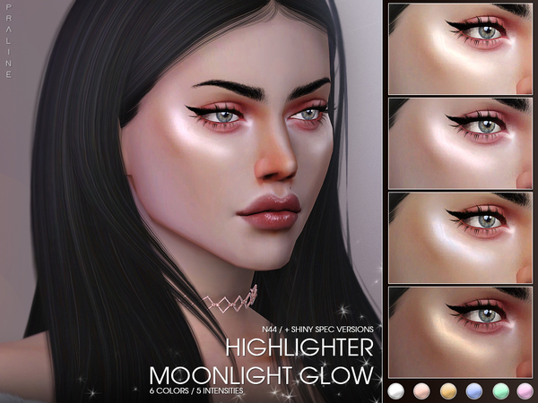 Moonlight Glow Highlighter N44 by Pralinesims at TSR image 1815 Sims 4 Updates