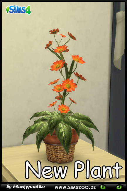 Sims 4 Plant with flowers by blackypanther at Blacky's Sims Zoo