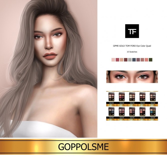 Sims 4 GPME GOLD Eye Color Quad at GOPPOLS Me