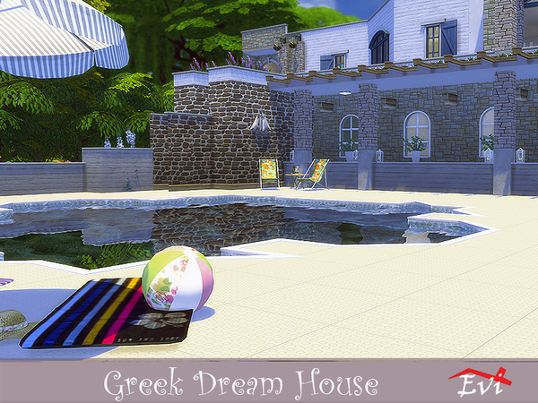 Greek Dream House by evi at TSR image 1838 Sims 4 Updates