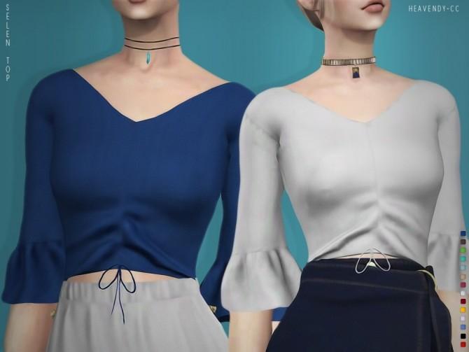 Selen blouse at Heavendy cc image 1844 670x503 Sims 4 Updates