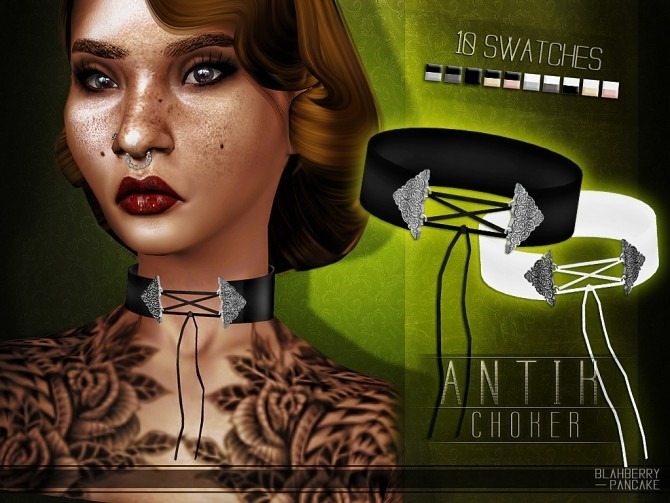 Antik choker at Blahberry Pancake image 1863 670x503 Sims 4 Updates