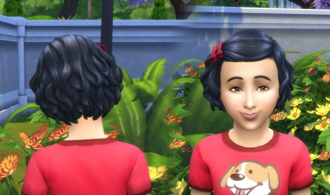 Sims 4 Soft Curls Hair Conversion at My Stuff