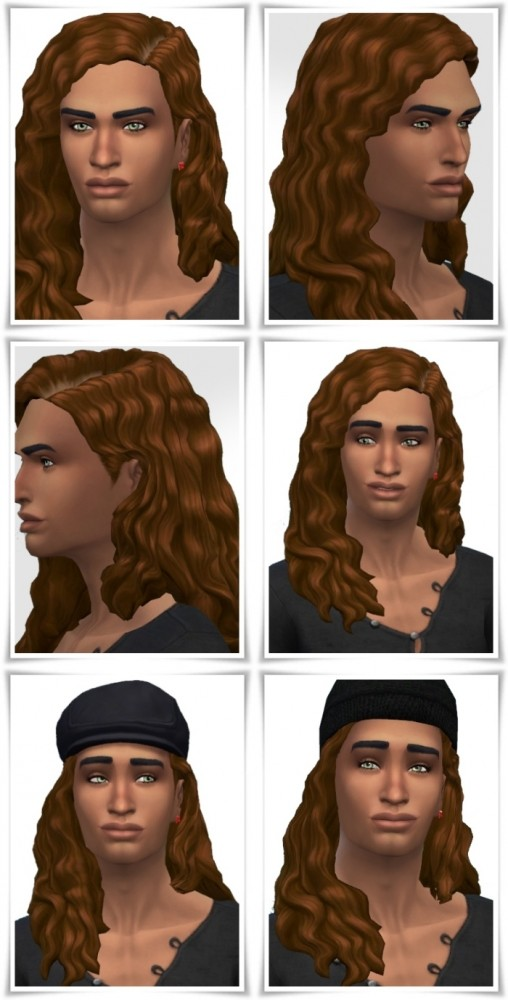 Sims 4 Aaron's LongCurls Hair at Birksches Sims Blog