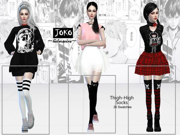 JOKO Thigh high Socks by Helsoseira at TSR image 19 Sims 4 Updates