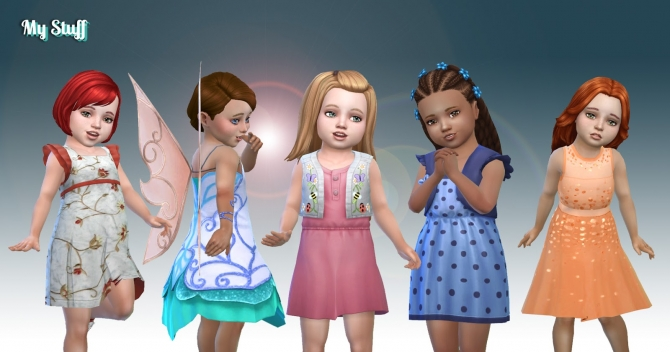Toddlers Dresses Pack At My Stuff 187 Sims 4 Updates
