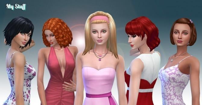 Female Medium Hair Pack 9 at My Stuff image 1907 670x349 Sims 4 Updates