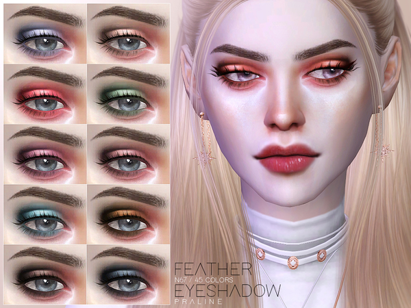 Sims 4 Feather Eyeshadow N67 by Pralinesims at TSR
