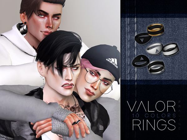 Sims 4 Valor Rings by Pralinesims at TSR