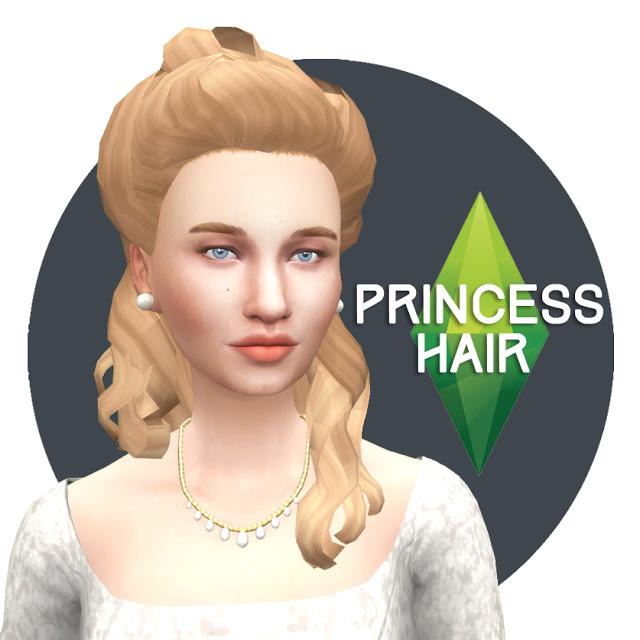 Sims 4 Princess Hair ts3 to ts4 conversion at Historical Sims Life