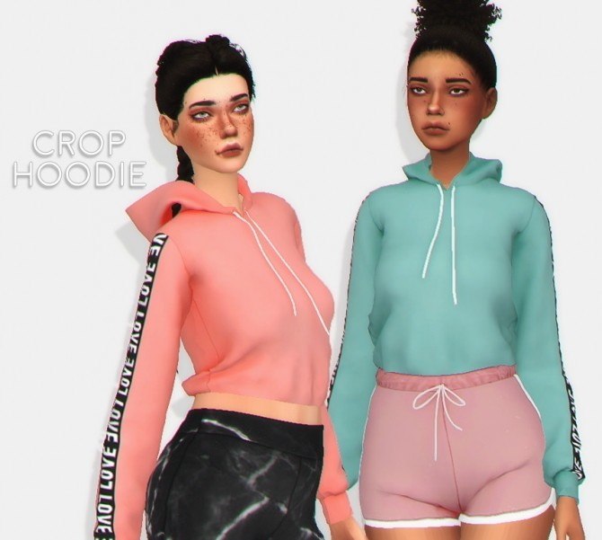 Crop hoodie at Puresims image 1923 670x601 Sims 4 Updates