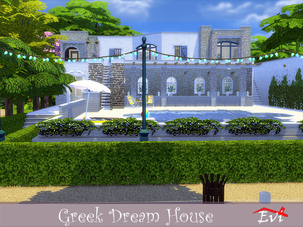 Greek Dream House by evi at TSR image 1930 Sims 4 Updates