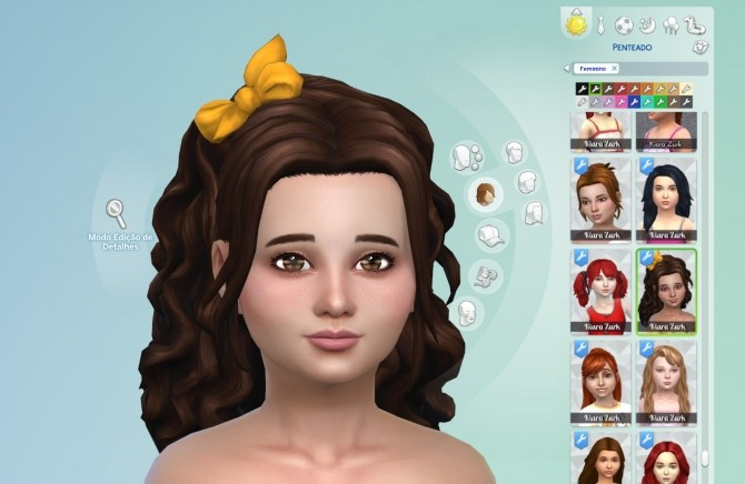 Sims 4 Leonora Hairstyle for Girls at My Stuff