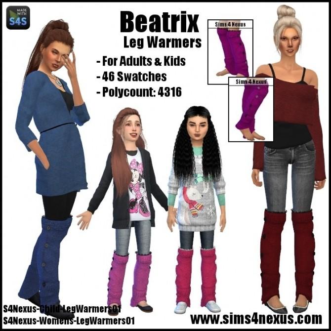 Sims 4 Beatrix leg warmers by SamanthaGump at Sims 4 Nexus