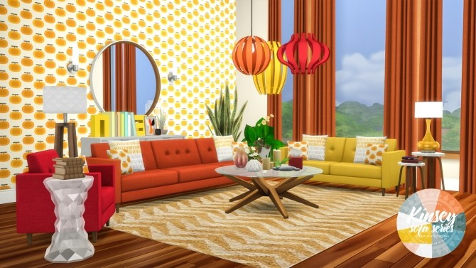 Kinsey Sofa Series MCM Inspired Seating at Simsational Designs image 1962 670x377 Sims 4 Updates