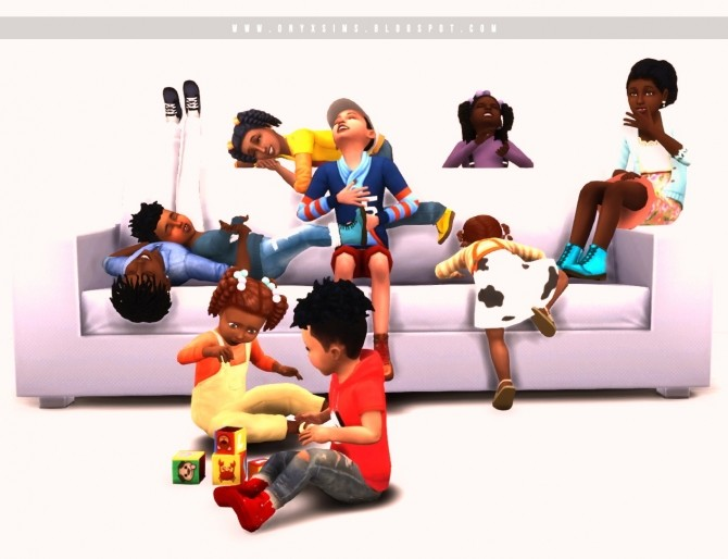 Little Kin Folk Pose Pack at Onyx Sims image 1975 670x514 Sims 4 Updates