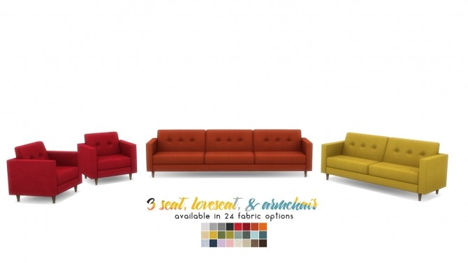 Kinsey Sofa Series MCM Inspired Seating at Simsational Designs image 1982 670x377 Sims 4 Updates