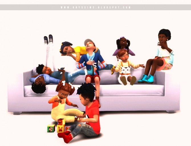 Little Kin Folk Pose Pack at Onyx Sims image 1985 670x514 Sims 4 Updates