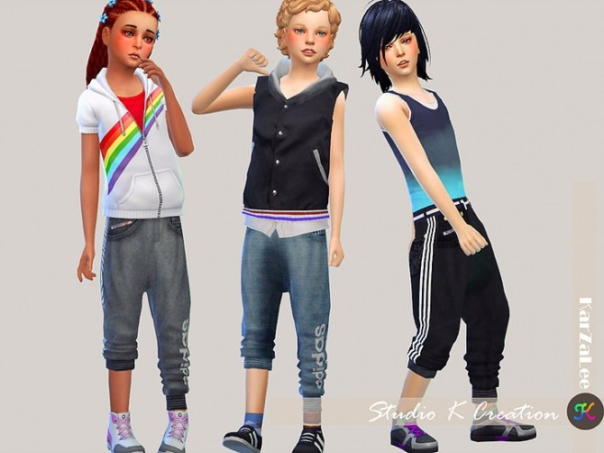 Giruto31 rollup Harem Pants kids at Studio K Creation image 2003 670x502 Sims 4 Updates